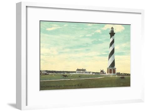Cape Hatteras Lighthouse, North Carolina--Framed Art Print