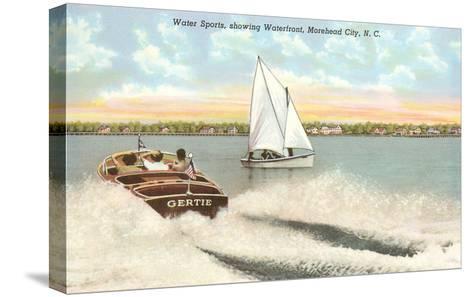 Water Sports, Morehead City, North Carolina--Stretched Canvas Print
