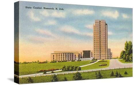 State Capitol, Bismarck, North Dakota--Stretched Canvas Print