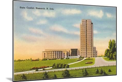State Capitol, Bismarck, North Dakota--Mounted Art Print