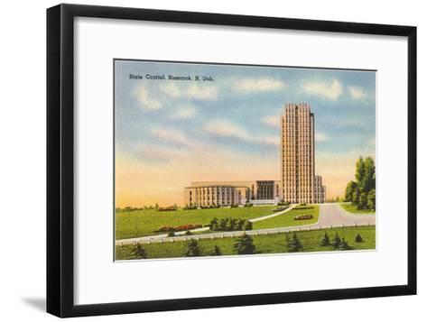 State Capitol, Bismarck, North Dakota--Framed Art Print