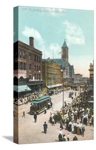16th Street, Omaha, Nebraska--Stretched Canvas Print