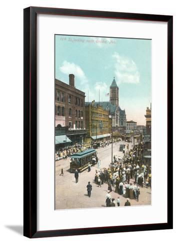 16th Street, Omaha, Nebraska--Framed Art Print