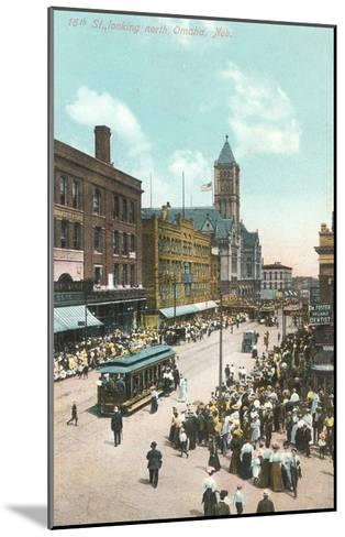 16th Street, Omaha, Nebraska--Mounted Art Print