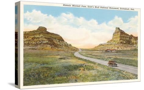 Mitchell Pass, Scottsbluff, Nebraska--Stretched Canvas Print