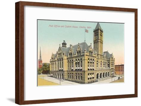 Post Office and Custom House, Omaha, Nebraska--Framed Art Print