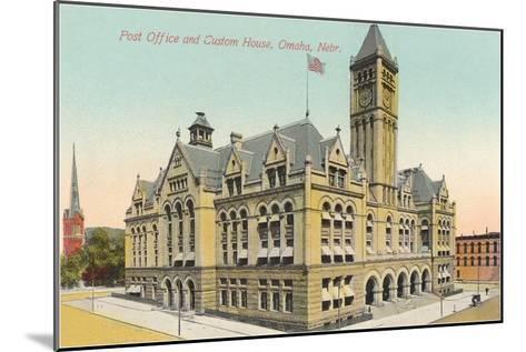Post Office and Custom House, Omaha, Nebraska--Mounted Art Print