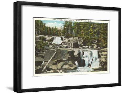 Diana's Bath, White Mountains, New Hampshire--Framed Art Print