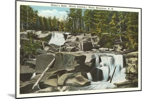 Diana's Bath, White Mountains, New Hampshire--Mounted Art Print