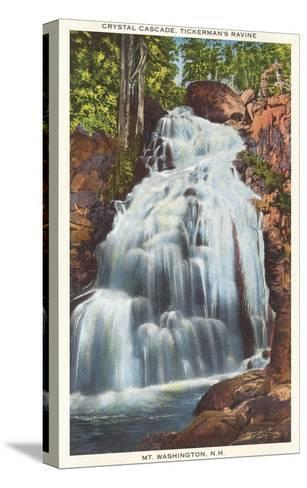 Crystal Cascade, Tickerman's Ravine, New Hampshire--Stretched Canvas Print