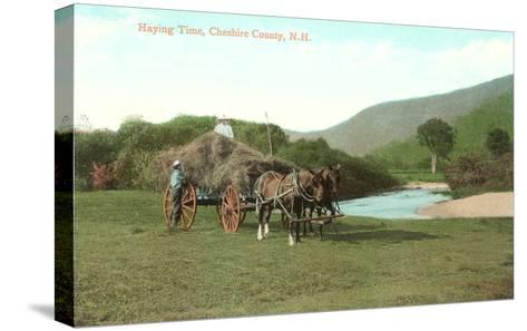 Haying Time, Cheshire County, New Hampshire--Stretched Canvas Print