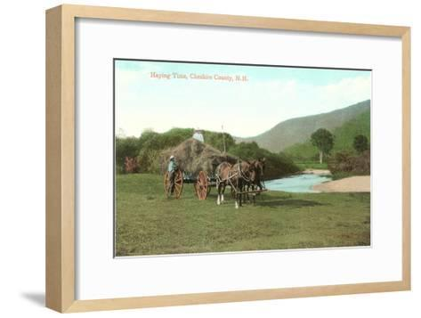Haying Time, Cheshire County, New Hampshire--Framed Art Print