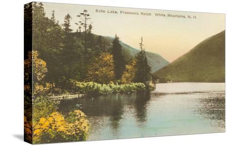 Echo Lake, Franconia Notch, New Hampshire--Stretched Canvas Print