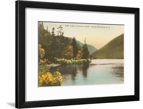 Echo Lake, Franconia Notch, New Hampshire--Framed Art Print