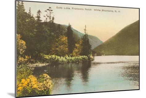 Echo Lake, Franconia Notch, New Hampshire--Mounted Art Print