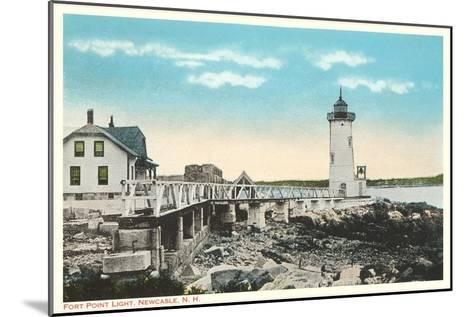 Ft. Point Lighthouse, New Castle, New Hampshire--Mounted Art Print