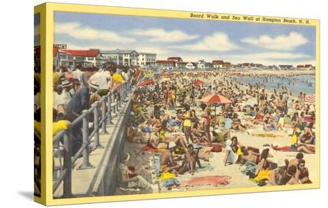 Boardwalk, Hampton Beach, New Hampshire--Stretched Canvas Print