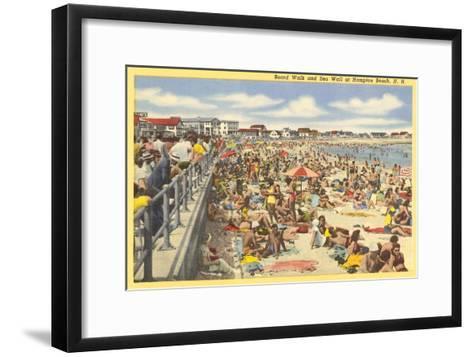 Boardwalk, Hampton Beach, New Hampshire--Framed Art Print