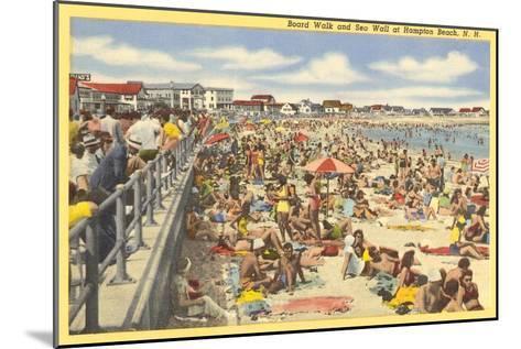 Boardwalk, Hampton Beach, New Hampshire--Mounted Art Print