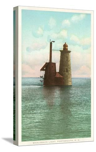 Whaleback Lighthouse, Portsmouth, New Hampshire--Stretched Canvas Print