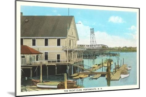 Yacht Club, Portsmouth, New Hampshire--Mounted Art Print