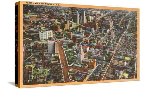 Aerial View of Newark, New Jersey--Stretched Canvas Print