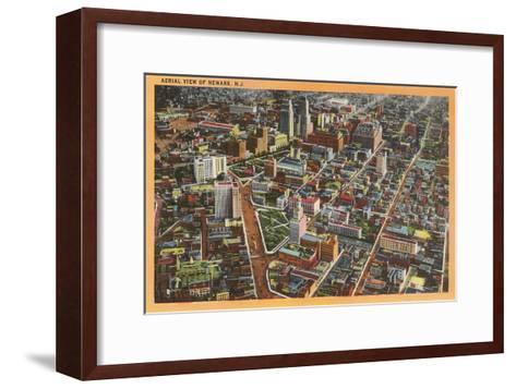 Aerial View of Newark, New Jersey--Framed Art Print