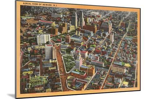 Aerial View of Newark, New Jersey--Mounted Art Print
