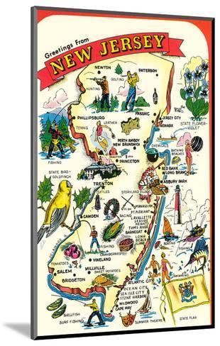 Map of New Jersey with Attractions--Mounted Art Print