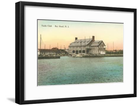 Yacht Club, Bay Head, New Jersey--Framed Art Print