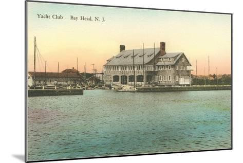 Yacht Club, Bay Head, New Jersey--Mounted Art Print