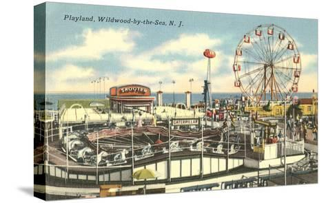 Playland, Wildwood-by-the-Sea, New Jersey--Stretched Canvas Print
