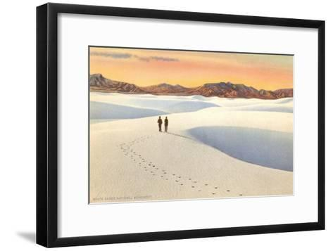 White Sands, New Mexico--Framed Art Print