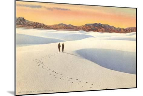 White Sands, New Mexico--Mounted Art Print