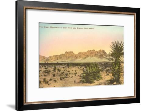 Organ Mountains, Las Cruces, New Mexico--Framed Art Print