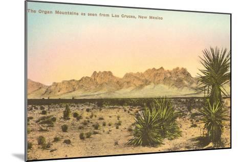 Organ Mountains, Las Cruces, New Mexico--Mounted Art Print