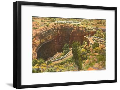 Entrance to Carlsbad Caverns, New Mexico--Framed Art Print