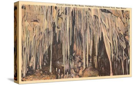 Crystal Grotto, Carlsbad Caverns, New Mexico--Stretched Canvas Print