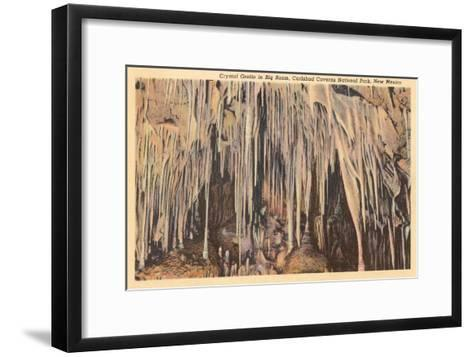 Crystal Grotto, Carlsbad Caverns, New Mexico--Framed Art Print