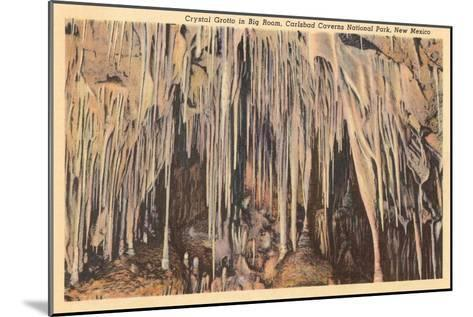 Crystal Grotto, Carlsbad Caverns, New Mexico--Mounted Art Print