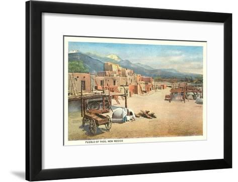 Taos Pueblo, New Mexico--Framed Art Print