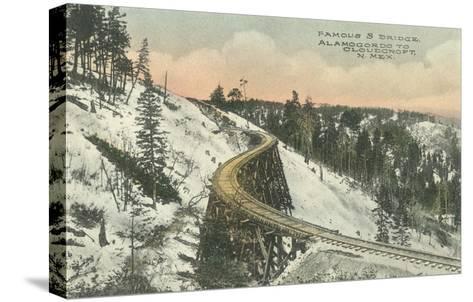 Famous S Railway Bridge, Cloudcroft, New Mexico--Stretched Canvas Print