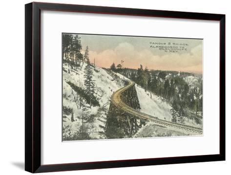 Famous S Railway Bridge, Cloudcroft, New Mexico--Framed Art Print