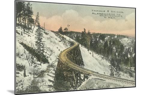 Famous S Railway Bridge, Cloudcroft, New Mexico--Mounted Art Print