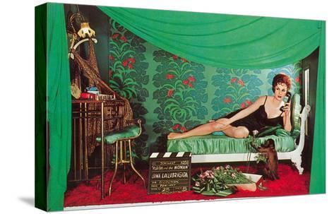 Gina Lolobrigida with Monkey--Stretched Canvas Print