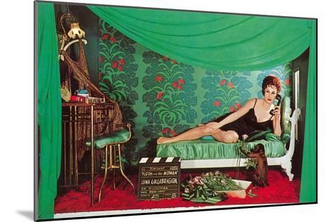 Gina Lolobrigida with Monkey--Mounted Art Print