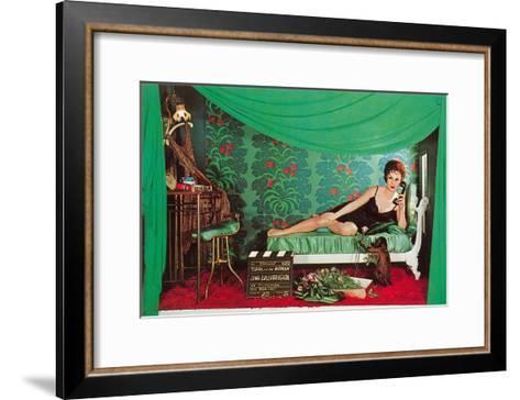 Gina Lolobrigida with Monkey--Framed Art Print