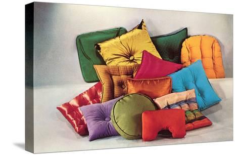 Assortment of Pillows, Retro--Stretched Canvas Print