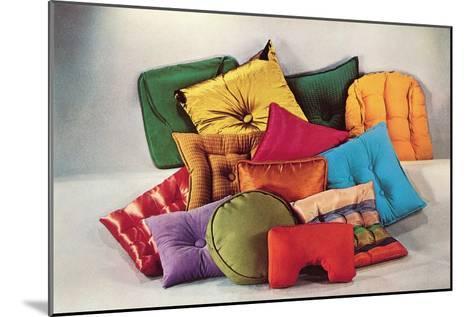 Assortment of Pillows, Retro--Mounted Art Print