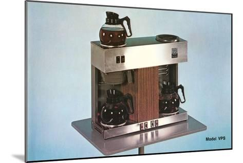Double Coffee-Maker, Retro--Mounted Art Print